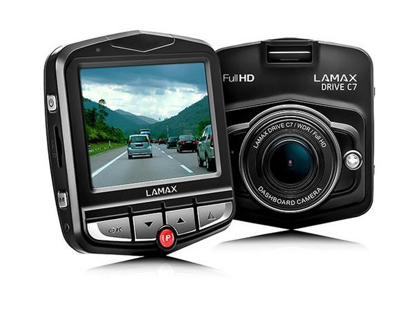 Lamax C7 černá palubní kamera (autokamera)