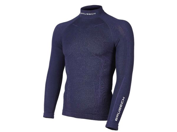 Brubeck Mens Swearshirt Wool Merino LS11920 navy blue - PandaOutdoor.cz b5803ab0cc