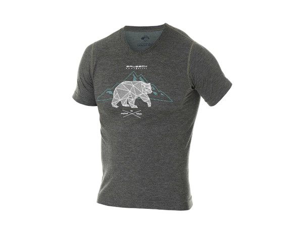 e9d5f155b Brubeck Outdoor Wool Mens T-Shirt SS12650 graphite pánské tričko ...