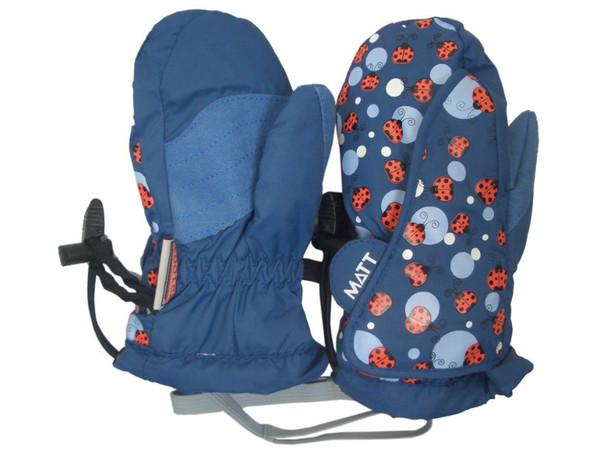 c000d122e22 Matt Ladybug Kid Mitten modré - rukavice dětské zimní palcové - beruška