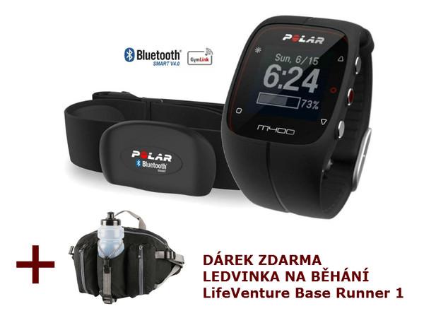bb305666c Polar M400 HR black - sporttester s GPS + ledvinka na běhání ...