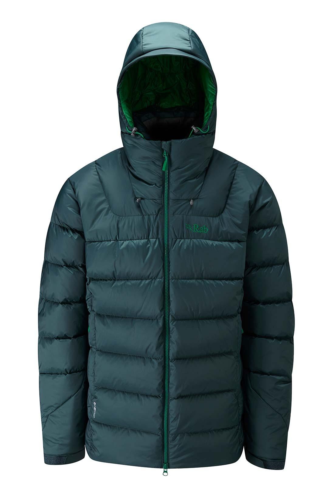 Rab Axion Jacket Evergreen pánská odolná péřová bunda - PandaOutdoor.cz 2eef485801
