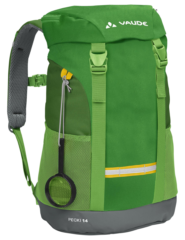Vaude Pecki 14 parrot green dětský turistický batoh s pláštěnkou ... f5f6c3f4cc
