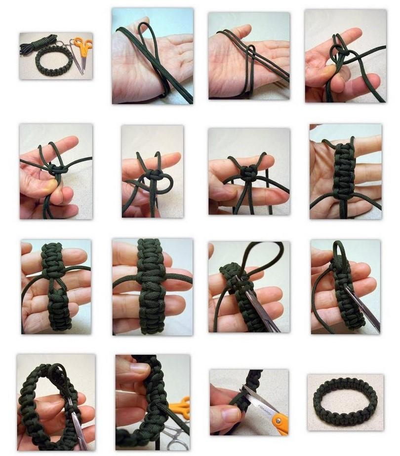 Браслет из паракорда своими руками схемы плетения инструкция 532
