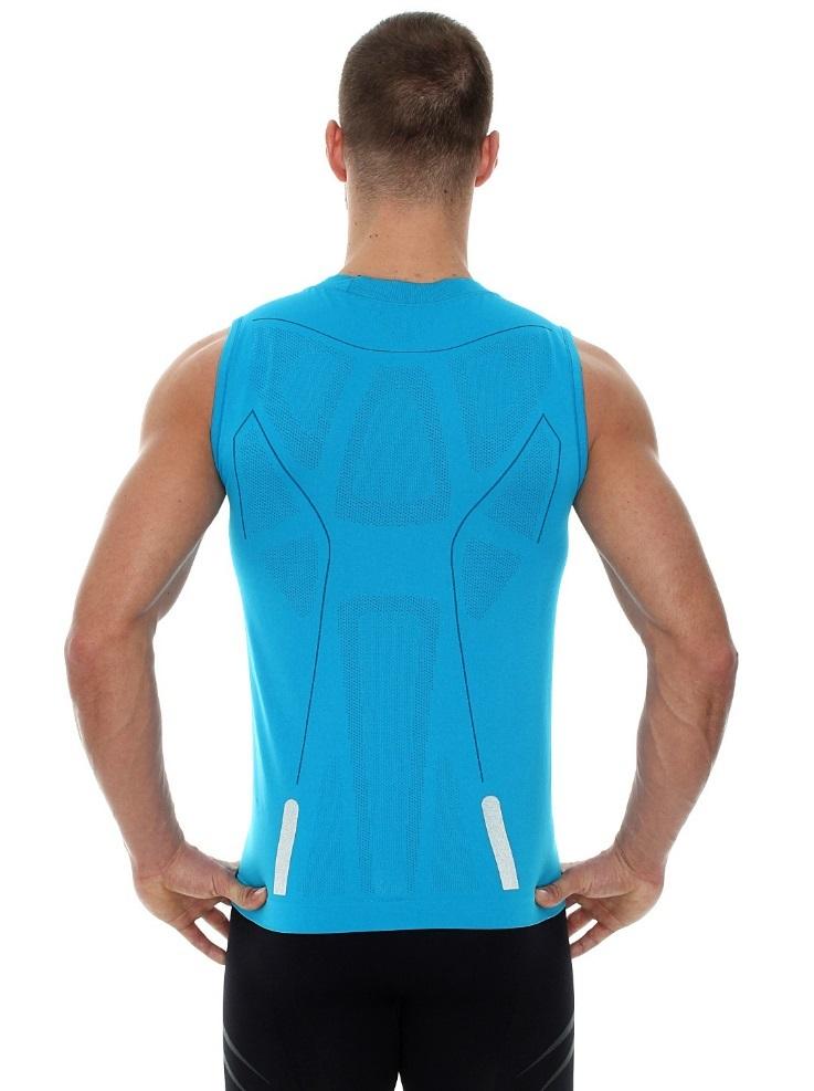 Pánské triko bez rukávů z řady ATHLETIC bylo vyrobeno bezešvou technologií  ve dvojité vrstvě e5f5221fdb