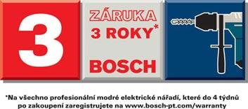 Bosch záruka 3 roky