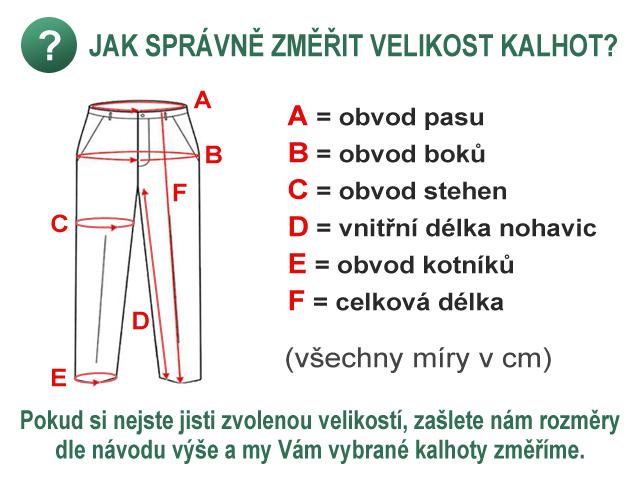 Určení velikosti kalhot - PandaOutdoor.cz afdfb1eaae